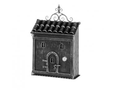 1076 Galbusera Wall Mail Box Artistic Wrought Iron