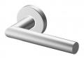 Pair of Toledo Tropex Door Handles Satin Stainless Steel Round or Oval Rose