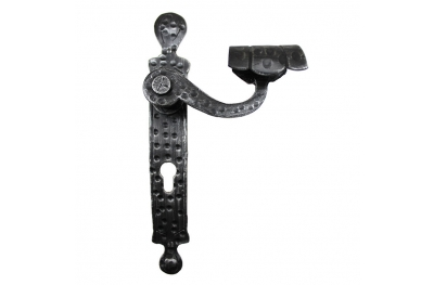 2027 Graces Wrought Iron Door Handle on Plate Lorenz Ferart