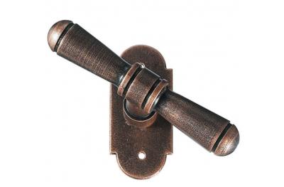 2095 Bern Galbusera Window Handle with Rosette Wrought Iron