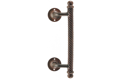 2113 Curved Galbusera Pull Handle Wrought Iron