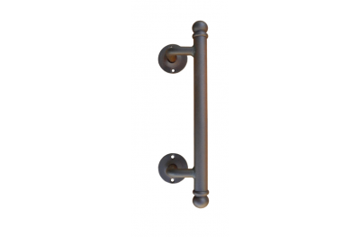 2114 Curved Galbusera Pull Handle Wrought Iron