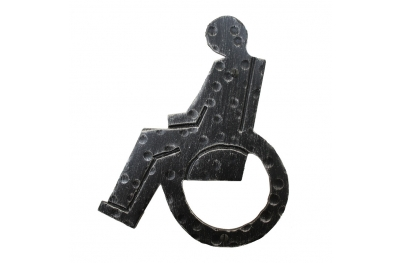 2206H Signal Wheelchair Wrought Iron for WC Disabled Bathroom Lorenz Ferart