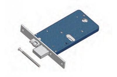 Adjustable roller and deadbolt lock for Omec range Mechanics Aluminium