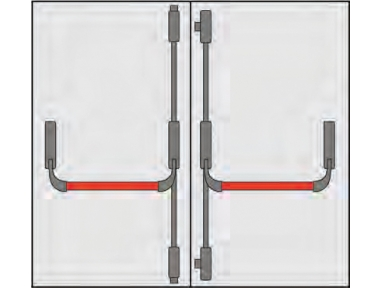 Handle Panic Omec Composition doors two doors four points Closing