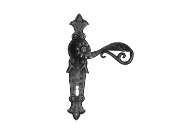 505 Galbusera Door Handle with Plate Artistic Wrought Iron
