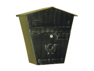 6022 Wrought Iron Handmade Mailbox Carrying Envelopes and Newspapers Lorenz