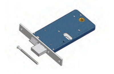Deadbolt and latch lock for Omec range Mechanics Aluminium