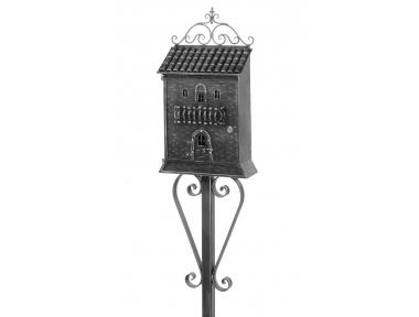 868 Galbusera Scaffold Pole Mailbox Artistic Wrought Iron