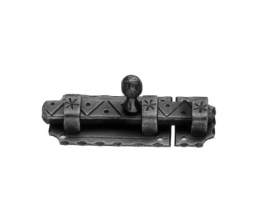 897 Galbusera Horizontal Bolt Artistic Wrought Iron 105x40x3mm