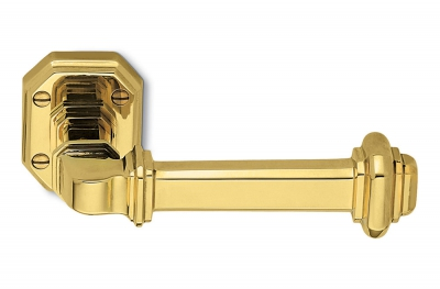 Busiri Natural Brass Door Handle on Rosette Ideal for Elegant House by Antologhia