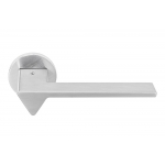 Ama Polished Chrome Door Handle on Rosette by Designer Architect Andrea Maffei for Colombo Design