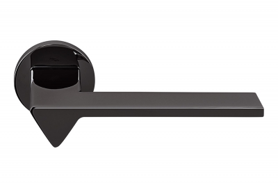 Ama Graphite Door Handle on Rosette Ideal for Architects and Designers by Colombo Design