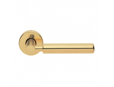 Amleto Design Manital Polished Brass Pair of Door Lever Handles