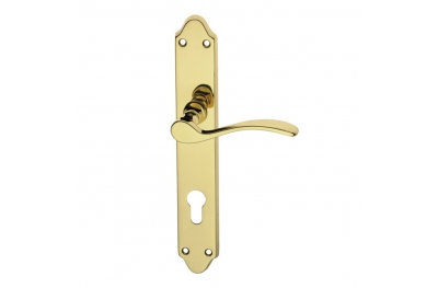 Anna Door Handle on Plate Brass-made Easy Line PFS Pasini