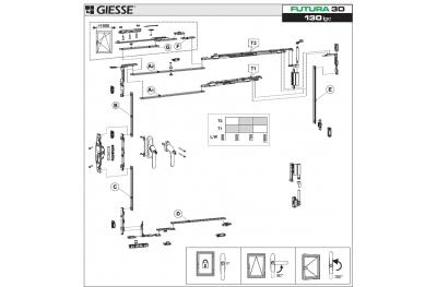 Anta Ribalta 3D Futura for Cremonese Logic Configuration Base Giesse