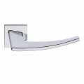 Antares Series Fashion forme Door Handle on Square Rosette Frosio Bortolo Modern Design