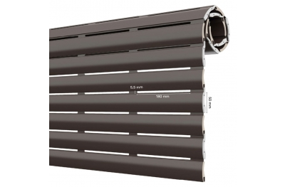 AriaLuce 50 Pinto Roller shutter in Aluminum with High Density Polyurethane