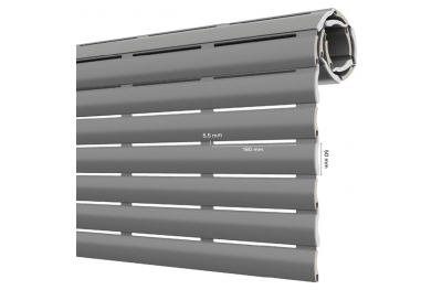 AriaLuce 50 Pinto Shutter in Medium Density Insulated Aluminum
