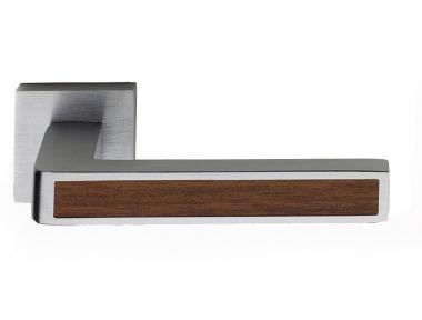 Barletta Wood Door Handle on Square Rosette Fashion Line PFS Pasini
