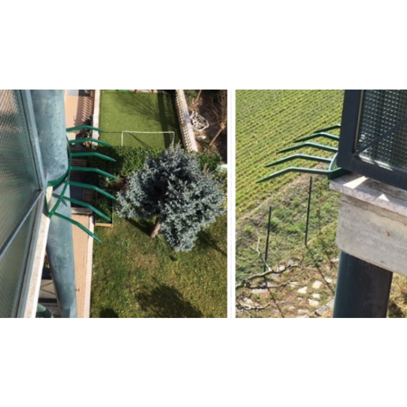 Modular Anti Intrusion Grimpo Barrier with Spikes for Cornices Balconies and Walls