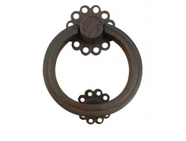 Flower Door Knocker with Ring Galbusera Wrought Iron