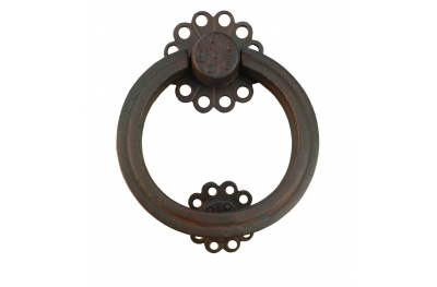 Flower Door Knocker with Ring Galbusera Wrought Iron