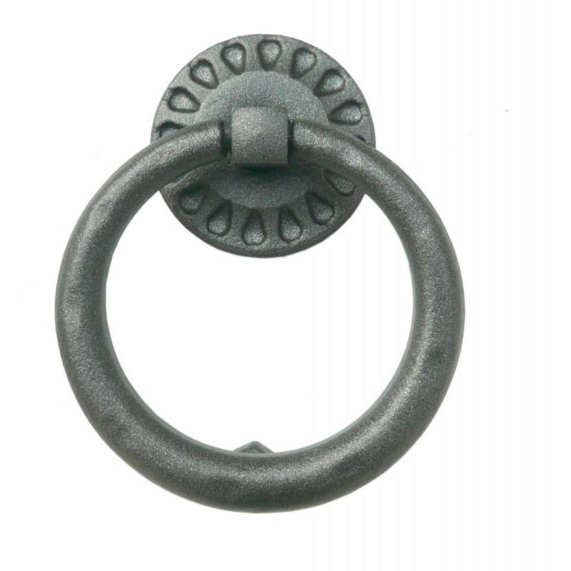 Drop Door Knocker with Ring Galbusera Wrought Iron