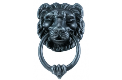 Lion Door Knocker 2 with Ring Galbusera Wrought Iron