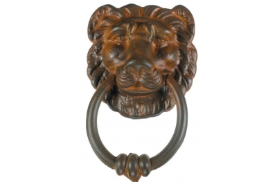Lion Door Knocker 1 with Ring Galbusera Wrought Iron