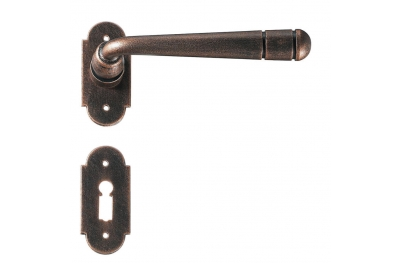 Bern 2 Galbusera Door Handle with Rosette and Escutcheon Plate