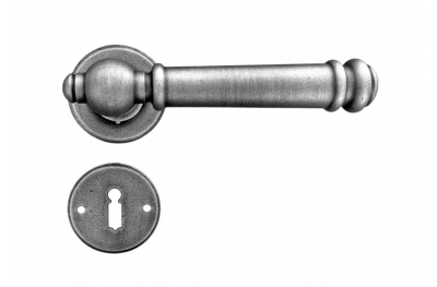 Bremen Galbusera Door Handle with Rosette and Escutcheon Plate