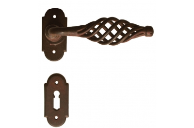 Budapest Galbusera Door Handle with Rosette and Escutcheon Plate