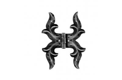 Double Hinge 145x110mm for Windows and Doors Galbusera Wrought Iron