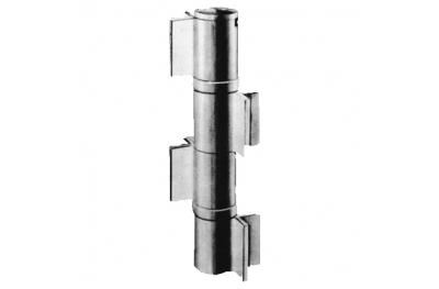 Maxi hinge with Savio bearing 4 Ali V-Weld Steel Polished