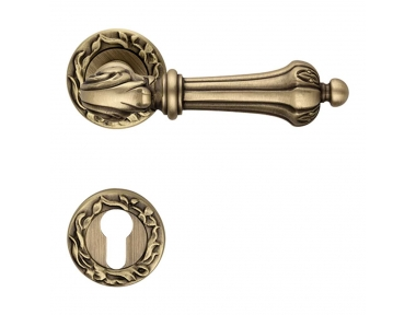 Charme Door Handle With Rose Historical Linea Calì Vintage