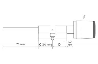 Libra Smart Cylinder For Armored Door Argo App Iseo Smartphone Opening