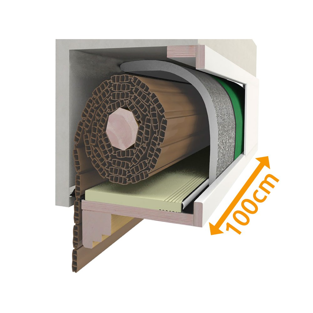 Cassonetto 100 cm composition for insulation Blinds PosaClima Renova