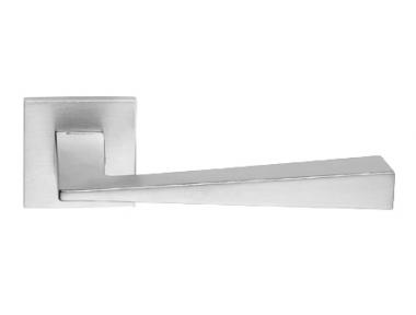 Conica Zincral Basic Linea Calì Satin Chrome Pair of Door Lever Handles
