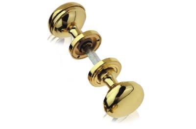Delta Pair of Brass Knobs Ø60 Diameter for Door PFS Pasini