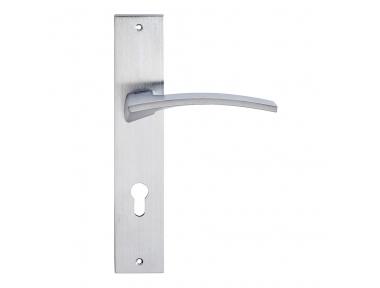 Elettra Series Fashion forme Door Handle on Plate Frosio Bortolo Creative Design