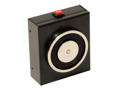 Hold Open Electromagnet Black 140 Kg with Push Button Release 18101 Opera