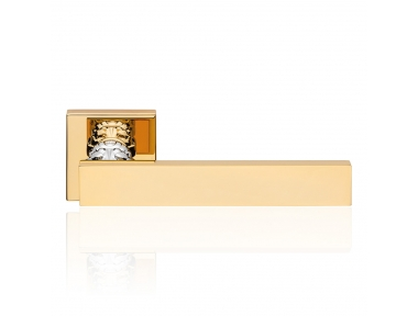 Era Gold Plated Door Handle With Rose Modern Antique Linea Calì Design