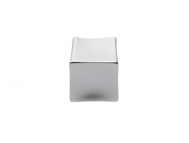 F514 Chrome Handle for Furniture with Cube Shape Design Made in Italy by Formae