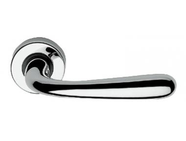 Garda Zincral Basic Linea Calì Polished Chrome Pair of Door Lever Handles