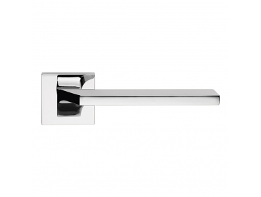 Giro Zincral Polished Chrome Door Handle With Rose for Architecture Interior Design Linea Calì Design