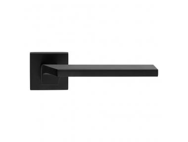 Giro Zincral Matt Black Door Handle With Rose of Creative Made in Italy Style Linea Calì Design