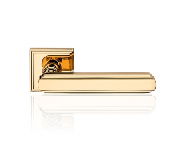 Glamor Gold Plated Door Handle With Rose With Rationalist Design XX Century Linea Calì Vintage