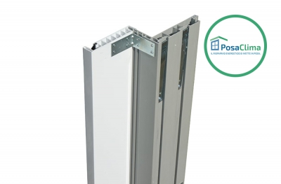 White PVC Guide for Roller Shutter of Klima Pro PosaClima Counterframe