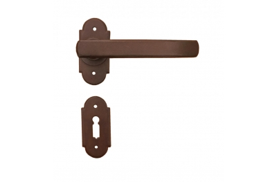 Helsinki Galbusera Door Handle with Rosette and Escutcheon Plate